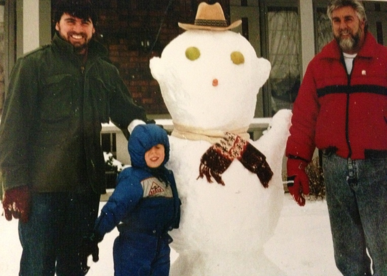 Uncle Tony, Mr. G and our son Matt when we was about 4