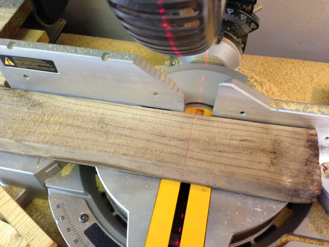 Laser Guided Miter Saw...