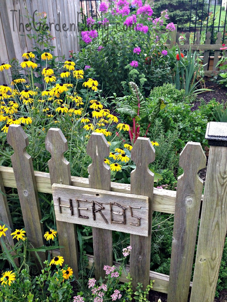 Entrance to Herb Garden...