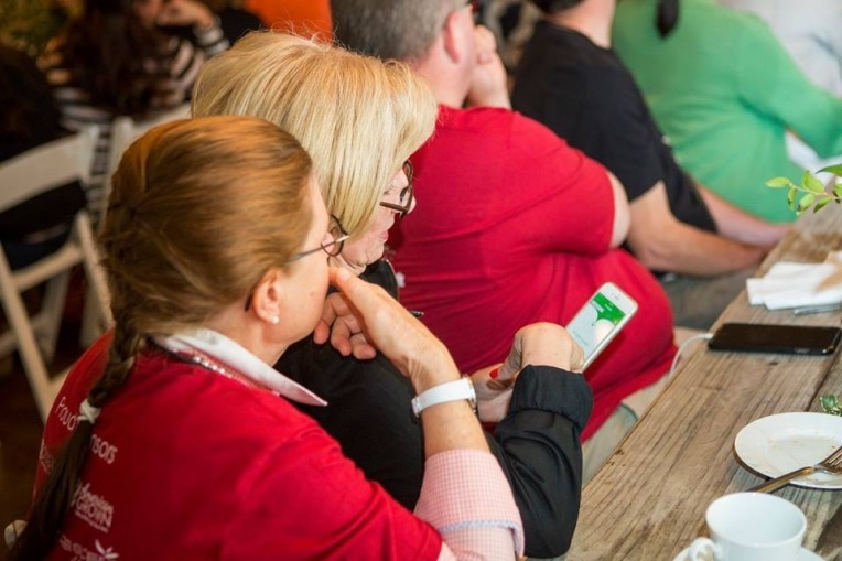 Me and Diane LaSauce checking out the app! We were impressed!
